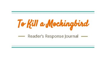 To Kill A Mockingbird Reader's Response Prompts