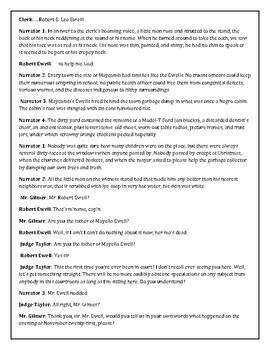To Kill A Mockingbird Reader's Theater Chapter 17