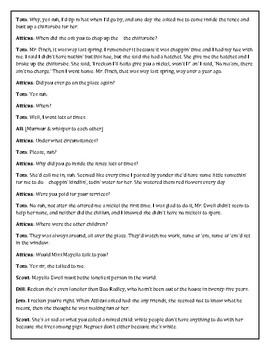 To Kill A Mockingbird Reader's Theater Chapter 19