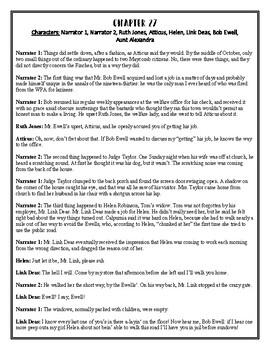To Kill A Mockingbird Reader's Theater Chapter 27
