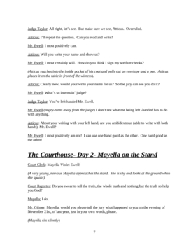 To Kill A Mockingbird- Script of the Trial