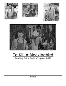To Kill A Mockingbird Section 1: Student Guide