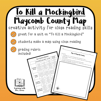 To Kill A Mockingbird Setting Map of Maycomb by Courtney Grieb | TpT
