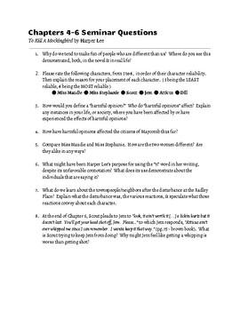 To Kill A Mockingbird Socratic Seminar Questions & Rubric!