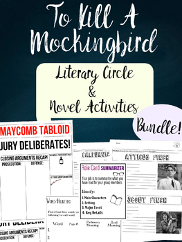 To Kill A Mockingbird Literary Circle Unit Tabloid Writing Activity