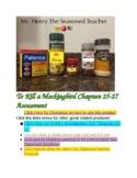 To Kill A Mockingbird Test Chapters 25-27 (Key Details)