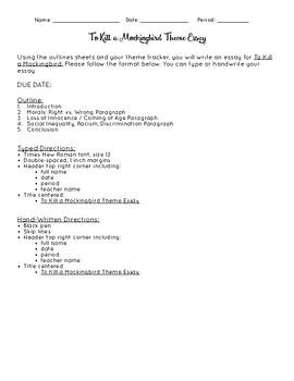 Essay On English Literature To Kill A Mockingbird Theme Essay Directions Business Essay Example also Learning English Essay Writing To Kill A Mockingbird Theme Essay Directions By The Grateful Classroom A Level English Essay