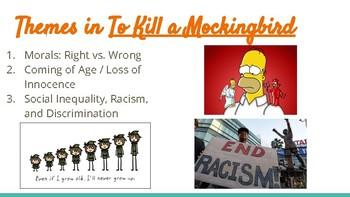 To Kill A Mockingbird Theme & Theme Review + Activity PPT