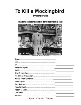 To Kill A Mockingbird Trial Reader's Theatre