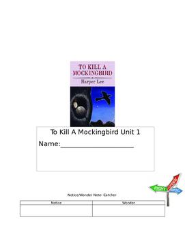 To Kill A Mockingbird Unit 1 Packet