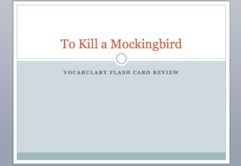 To Kill A Mockingbird Vocabulary Flash Card Review Game