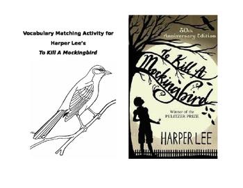 To Kill A Mockingbird Vocabulary Matching Activity