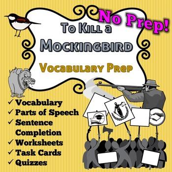 To Kill A Mockingbird Vocabulary -No Prep- Task Cards, Homework, Context Clues