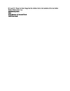 To Kill A Mockingbird chapters 5-8 quiz and key