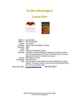 To Kill a Mockingbird: Daily Lesson Plans