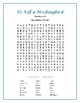 To Kill a Mockingbird: 10 Word Searches w/Hidden Messages—Fun Filler Activities!
