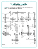 To Kill a Mockingbird: 50-Word Prereading Crossword—Great Warm-Up for the Book!