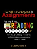 To Kill a Mockingbird Assignments Presentations, Essays, &