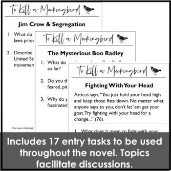 To Kill a Mockingbird Activity Pack for the Entire Novel