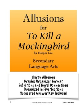 To Kill a Mockingbird - Analyzing Allusions
