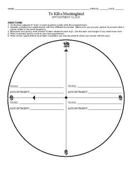 To Kill a Mockingbird Appointment Clock