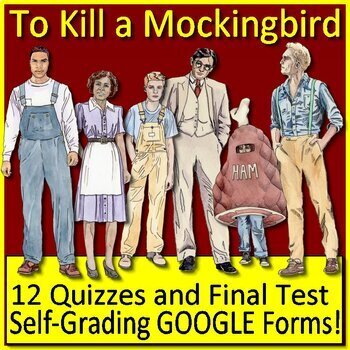 To Kill a Mockingbird Novel Study Test Bundle