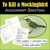 To Kill a Mockingbird: Assessment Questions (Reading Compr