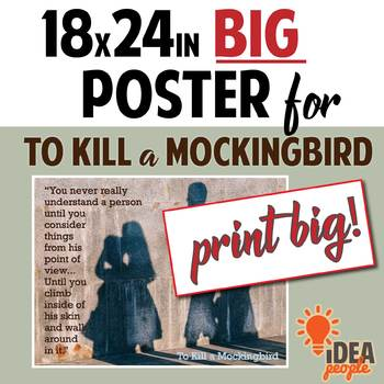 To Kill a Mockingbird - Atticus on Understanding Others - POSTER 18x24 printable