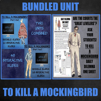 TO KILL A MOCKINGBIRD: BUNDLED UNIT (Google Classroom & Da