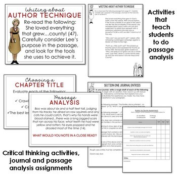 To Kill a Mockingbird Activities for Real Learning