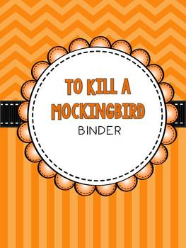 To Kill a Mockingbird Organizer: Covers, Spines & Planning Sheets