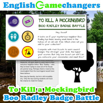 To Kill a Mockingbird Boo Radley Badge Battle Peer Review Game