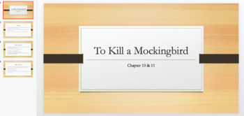 To Kill a Mockingbird Bundle - 6 PPTs for Chapters 1-13 Summaries Key Points