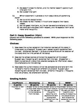 To Kill a Mockingbird Quiz (Chap. 1-4)