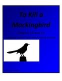 To Kill a Mockingbird Chapter 10 and 11 Performance Activity