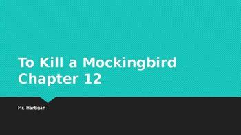 To Kill a Mockingbird Chapter 12 Visual Guide