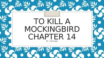 To Kill a Mockingbird Chapter 14 Visual Guide