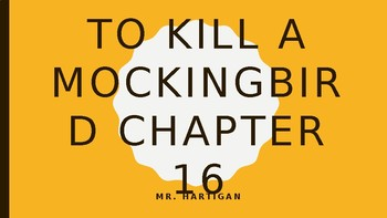 To Kill a Mockingbird Chapter 16 Visual Guide