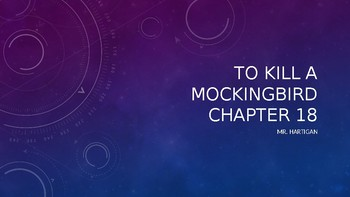 To Kill a Mockingbird Chapter 18 Visual Guide