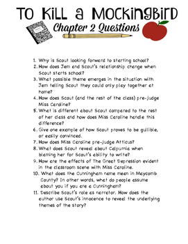 To Kill a Mockingbird Chapter 2 Questions
