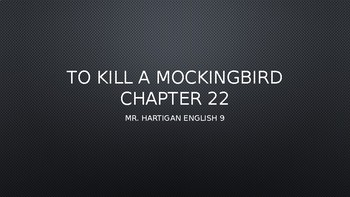 To Kill a Mockingbird Chapter 22 Visual Guide