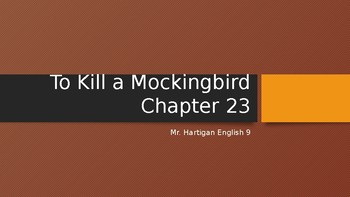 To Kill a Mockingbird Chapter 23 Visual Guide