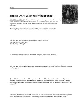 To Kill a Mockingbird, Chapter 28: Making Inferences