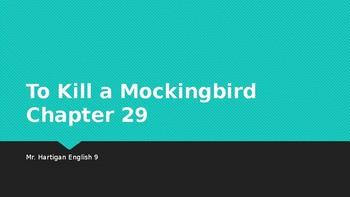 To Kill a Mockingbird Chapter 29 Visual Guide