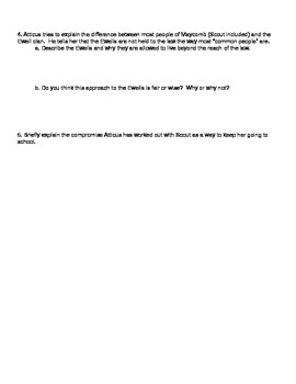 To Kill a Mockingbird Chapter 3 Discussion Questions
