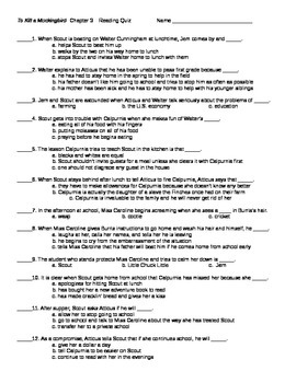 tkam study guide questions chapters 1 3 View test prep - to kill a mockingbird study guide questions from english american l at j p stevens high short-answer questions - to kill a mockingbird chapters 1-3 1.