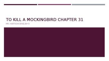 To Kill a Mockingbird Chapter 31 Visual Guide