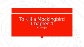 To Kill a Mockingbird Chapter 4 Visual Guide