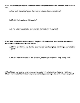 To Kill a Mockingbird Chapter 8 Discussion Questions