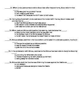 To Kill a Mockingbird Chapter 9 Reading Quiz